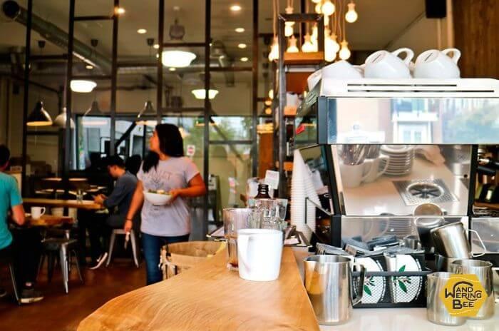 カナダ・バンクーバーで勤務していたカフェ