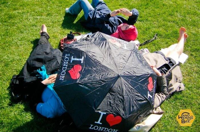 ロンドン・ハイドパークでのピクニック