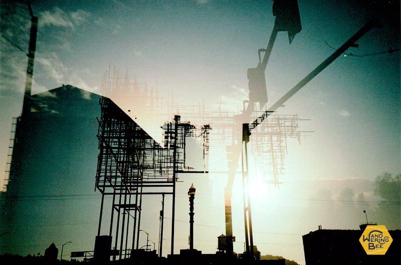 アメリカ・ポートランドにて、多重露光機能を使用して撮影