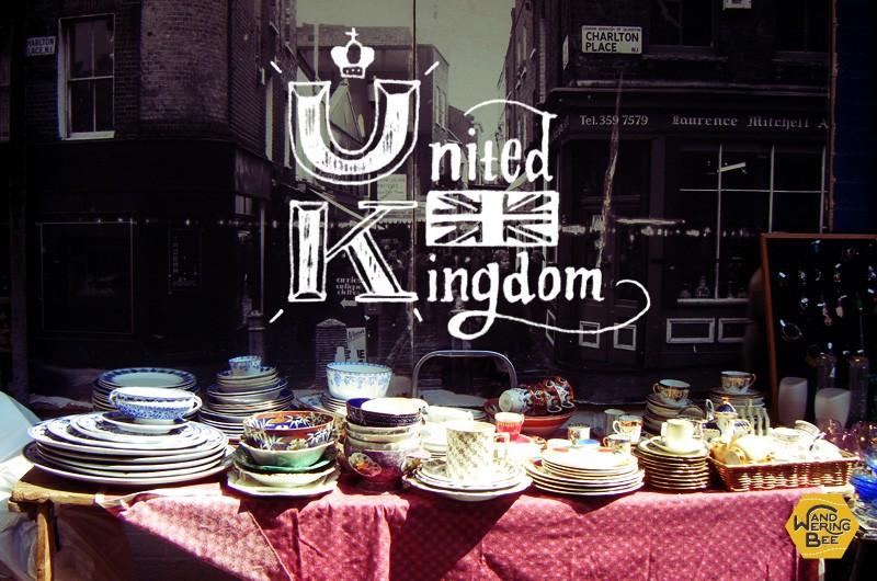 ロンドンでは、ヴィンテージマーケットが各所で開かれています