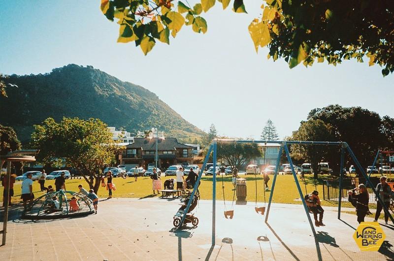 温かい日の公園はいつも家族で大賑わい