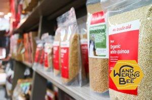 スパイス、穀類、ナッツ類、オイルなどの食材も豊富に扱われています