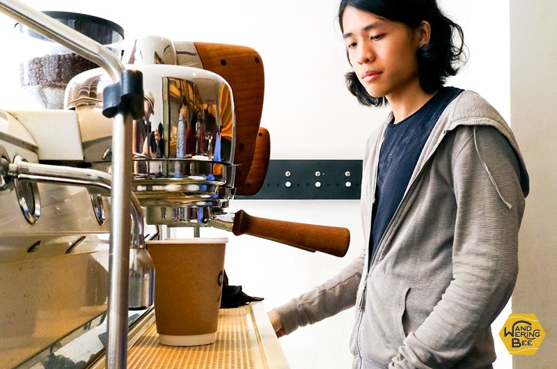 3 heads Slayer espresso machine at 100% Arabica Kyoto is always full on