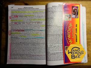私が当時使っていたWWOOF Book