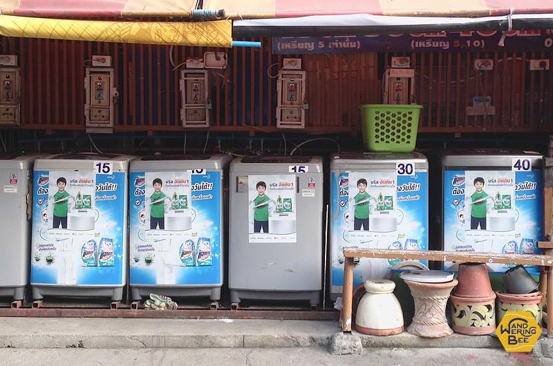 各洗濯機に書かれている数字が利用料金で、洗濯容量によって上下します。