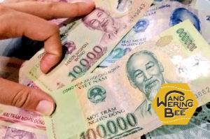 ベトナム・ドンの1万ドンと10万ドンは似ていて見分けがつきにくいです