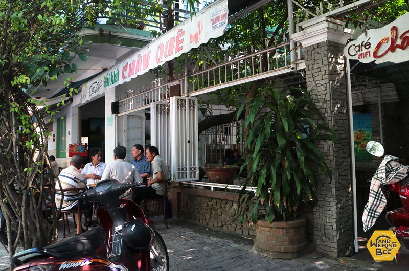 Open-styled local Vietnamese cafes are often used for gathering in the morning.