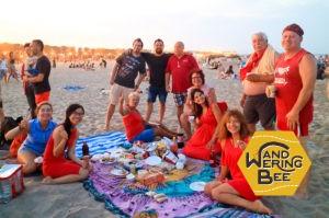 月食の日にビーチでパーティをしました!