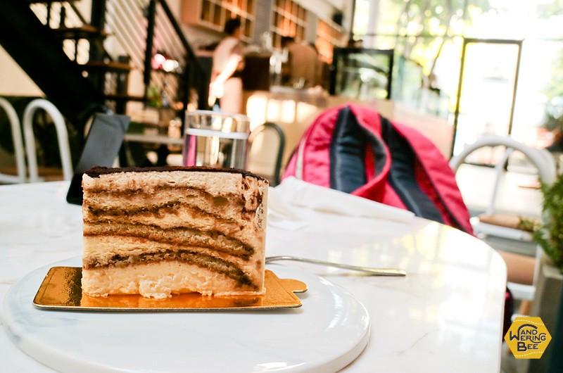 友人が食べていたWonderlustのティラミスケーキ