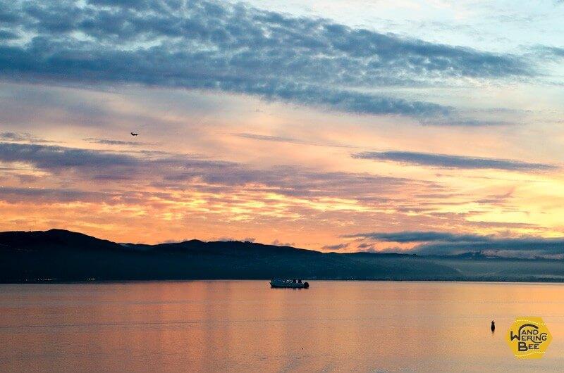 ニュージーランドで見た息を呑むような夕焼け