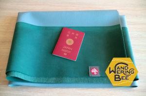 パスポートと比較した折りたたみサイズ