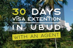 【インドネシア・バリ島VOA+30日ビザ延長】ウブドのエージェントを使ってみた