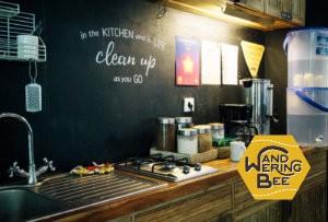 いつでも清潔に保たれているHubudの共用キッチン
