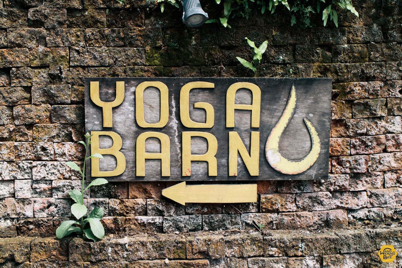 Yoga Barnの入口は少し分かりづらいのでご注意を