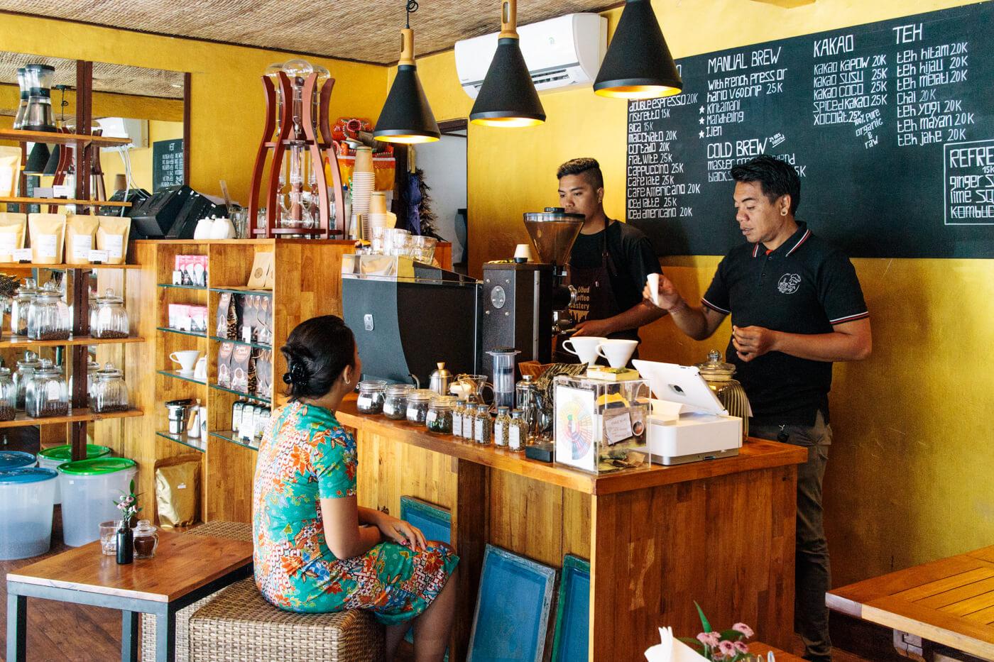 Ubud Coffee Roastery ーの店内